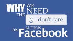 I don't care button on Facebook
